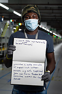 Osman has worked at Amazon for 7 weeks. He is from Sudan.