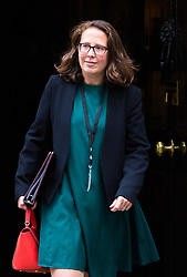London, October 24 2017. Lord Privy Seal and Leader of the House of Lords Baroness Natalie Evans  leaves the UK cabinet meeting at Downing Street. © Paul Davey