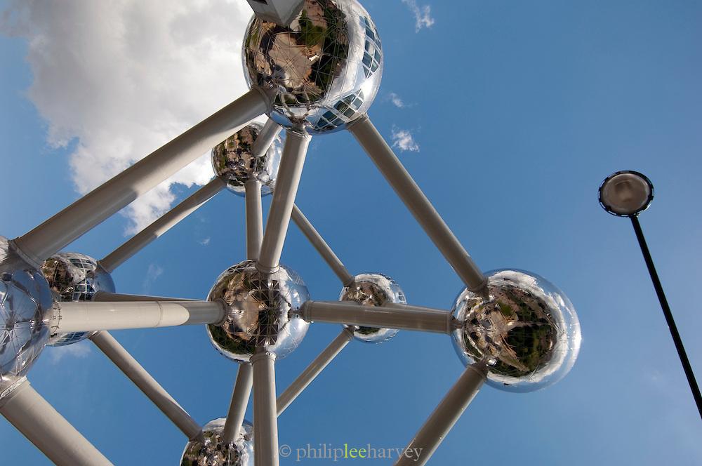 Atomium structure in Heysel Park, Brussels, Belgium