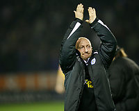 Photo: Steve Bond.<br />Leicester City v Cardiff City. Coca Cola Championship. 26/11/2007. Ian Holloway says hello to Leicester