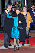 Celebration of the 75th anniversary of the Queen, with ballet of Introdans, for (former) employees and family in Utrecht<br /> <br /> On the photo:  Princess Margriet