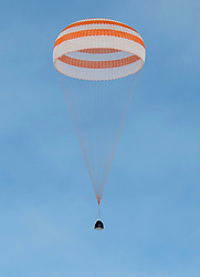 KAZAKHSTAN Near Zhezkazgan -- 02 Mar 2016 -- Scott Kelly and Mikhail Kornienko return to Earth after a record 340 days in space.The Soyuz TMA-18M spacecraft is seen as it lands with Expedition 46 Commander Scott Kelly of NASA and Russian cosmonauts Mikhail Kornienko and Sergey Volkov of Roscosmos near the town of Zhezkazgan, Kazakhstan on Wednesday, March 2, 2016 (Kazakh time). Kelly and Kornienko completed an International Space Station record year-long mission to collect valuable data on the effect of long duration weightlessness on the human body that will be used to formulate a human mission to Mars. Volkov returned after spending six months on the station. EXPA Pictures © 2016, PhotoCredit: EXPA/ Photoshot/ Bill Ingalls/Atlas Photo Archive<br /><br />*****ATTENTION - for AUT, SLO, CRO, SRB, BIH, MAZ only*****