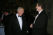 Sir Terence Conran and Sir Christopher Frayling. Royal Academy Annual dinner to celebrate the opening of the Summer exhibition. Royal Academy. Piccadilly. London. 1 June 2005.  ONE TIME USE ONLY - DO NOT ARCHIVE  © Copyright Photograph by Dafydd Jones 66 Stockwell Park Rd. London SW9 0DA Tel 020 7733 0108 www.dafjones.com