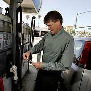 VENTURA, CA, July 1, 2008: Michael Ward is an adjunct professor who teaches at several colleges including Ventura College in Ventura, CA and has been affected by the high gas prices.