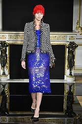 January 22, 2019 - Paris, FRANCE - Giorgio Armani Prive.. Model On Catwalk, Paris Haute Couture Fashion Week 2019 HC Ready To Wear For Spring Summer, Defile, Fashion Show Runway Collection, Pret A Porter, Modelwear, Modeschau Laufsteg Sommer, France, .PARHS19 (Credit Image: © FashionPPS via ZUMA Wire)