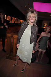 JO WOOD at fundraising dinner and auction in aid of Liver Good Life a charity for people with Hepatitis held at Christies, King Street, London on 16th September 2009.