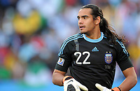Fotball<br /> VM 2010<br /> 12.06.2010<br /> Argentina v Nigeria<br /> Foto: Witters/Digitalsport<br /> NORWAY ONLY<br /> <br /> Torwart Sergio Romero (Argentinien)<br /> Fussball WM 2010 in Suedafrika, Vorrunde, Argentinien - Nigeria