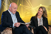 Keith Wood with Dr Kathryn Ackerman at the Orreco Science Summit, Glenlo Abbey Hotel, Galway, 25.10.16