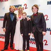 NLD/Amsterdam/20151214 - Film premiere Mannenharten 2, Marc de Roe en partner
