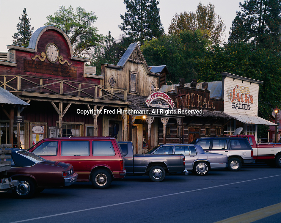 Dusk descending over the town of Winthrop, Washington.