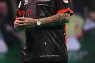 Nathan Aspinal during the Premier League Darts at Marshall Arena, Milton Keynes, United Kingdom on 5 April 2021.