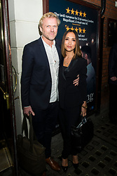 Myleene Klass and guest attend the Beginning press night at the Ambassadors Theatre, London. Picture date: Tuesday 23rd January 2018.  Photo credit should read:  David Jensen/ EMPICS Entertainment