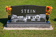 A family grave near the homestead of Illinois grain farmer Gordon Stine, who lives in St. Elmo, Illinois.    (Gordon Stine is featured in the book What I Eat; Around the World in 80 Diets.)