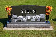 A family grave near the homestead of Illinois grain farmer Gordon Stine, who lives in St. Elmo, Illinois.    (Gordon Stine is featured in the book What I Eat; Around the World in 80 Diets.)