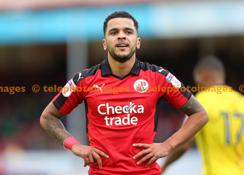 Crawley's goal  scorer Billy Clifford during the FA Cup match between Crawley Town and Bristol Rovers at the Checkatrade Stadium in Crawley. November 5, 2016.<br /> James Boardman / Telephoto Images<br /> +44 7967 642437
