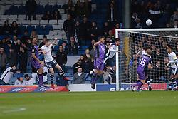 Leon Legge of Port Vale heads on goal - Mandatory by-line: JMP - 04/05/2019 - FOOTBALL - Gigg Lane - Bury, England - Bury v Port Vale - Sky Bet League Two