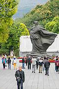 Zhuge Liang, statue, Baidicheng, White Emperor City, Yangtze River, China