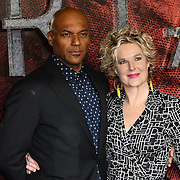 Colin Salmon and Fiona Hawthorne Arrivers at the Mortal Engines - World Premiere on 27 November 2018, London, UK