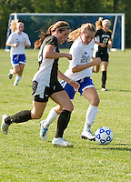 Gilford girls varsity soccer versus Prospect Mountain High School August 31, 2010.