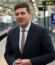 Pictured: Jamie Hepburn<br /> Minister for Employability and Training Jamie Hepburn launched a £10 million Flexible Workforce Development Fund which will partner industry with colleges to deliver in-work skills training during a visit to Waverlety Station in Edinburgh today. Mr Hepburn met to meet ScotRail staff who have undertaken in-work training to further their careers along with represenatatives from the Further Education sector.<br /> <br /> <br /> Ger Harley | EEm 7 September 2017