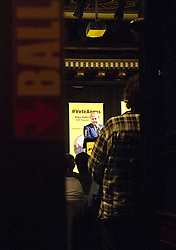 Pictured: Angus Robertson prepares back stage ahead of launching his campaign<br /> MP Angus Robertson launched his campaign for depute leadership of the SNP today. Mr Robertson made his first public speech since declaring his bid for the post, at the Voodoo Rooms in Edinburgh <br /> <br /> Ger Harley | EEm 28 July 2016