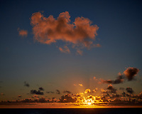Sunrise panorama from the aft deck of the MV World Odyssey.  Image taken with a Fuji X-T1 camera and 35 mm f/1.4 lens (ISO 200m, 35 mm, f/16, 1/250 sec). Raw image processed with Capture One Pro, noise reduction with NIK Define 2.