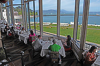 MCormick & Kuleto's Restaurant, Fisherman's Wharf, San Francisco, California, USA, dining room, panormic view, 201304141368.<br /> <br /> Copyright Image from Victor Patterson, 54 Dorchester Park, Belfast, UK, BT9 6RJ<br /> <br /> Tel: +44 28 9066 1296<br /> Mob: +44 7802 353836<br /> Voicemail +44 20 8816 7153<br /> Skype: victorpattersonbelfast<br /> Email: victorpatterson@me.com<br /> Email: victorpatterson@ireland.com (back-up)<br /> <br /> IMPORTANT: If you wish to use this image or any other of my images please go to www.victorpatterson.com and click on the Terms & Conditions. Then contact me by email or phone with the reference number(s) of the image(s) concerned.