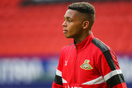 Doncaster Rovers midfielder Anthony Greaves (38) warms up prior to the The FA Cup 2nd round match between Charlton Athletic and Doncaster Rovers at The Valley, London, England on 1 December 2018. Photo by Toyin Oshodi