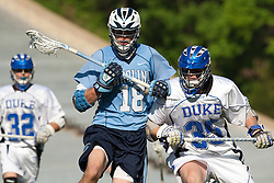 26 April 2009: North Carolina Tar Heels midfielder Ben Hunt (18) during a 15-13 loss to the Duke Blue Devils during the ACC Championship at Kenan Stadium in Chapel Hill, NC.