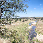 A view from an overlook of the Tarangiew River at Tarangire National Park in northern Tanzania not far from Ngorongoro Crater and the Serengeti.