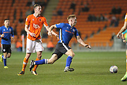 Callum Camps sets up an attack during the EFL Sky Bet League 1 match between Blackpool and Rochdale at Bloomfield Road, Blackpool, England on 26 September 2017. Photo by Daniel Youngs.