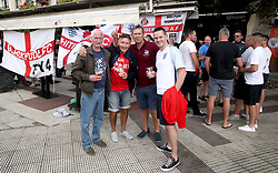 A general view of England fans outside a pub prior to the Nations League match at Benito Villamarin Stadium, Seville.