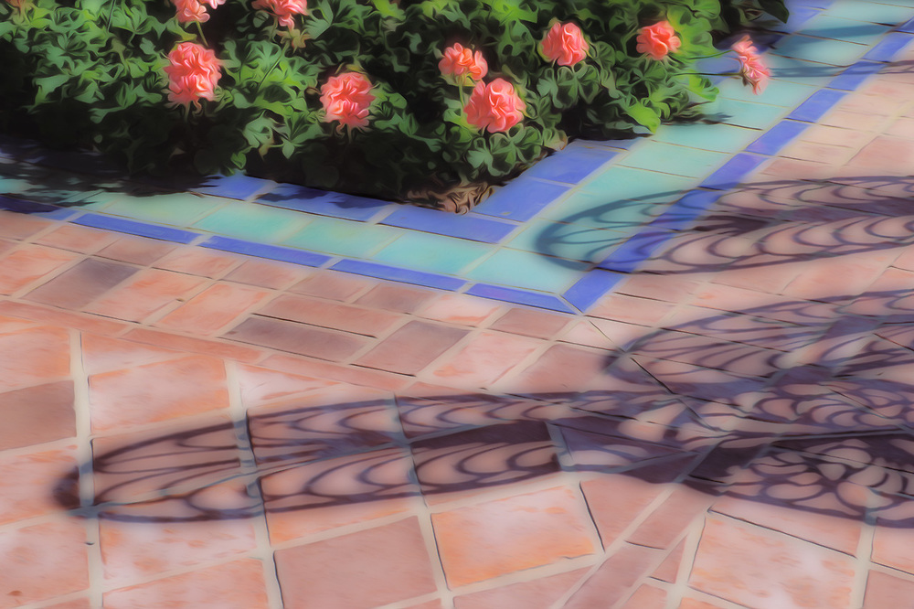 Cafe chairs shadows, March, Atlantic Coast, Florida, USA