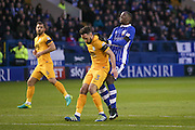 Sheffield Wednesday forward Lucas Joao (19)  sees the funny side of not being able to get onto a through ball  during the EFL Sky Bet Championship match between Sheffield Wednesday and Preston North End at Hillsborough, Sheffield, England on 3 December 2016. Photo by Simon Davies.