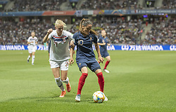 Karina SAEVIK ( NOR ),Amel MAJRI ( FRA ) in action during the match of 2019 FIFA Women's World Cup France group A match between FRANCE and NORWAY, at Allianz Riviera, Nice Arena on June 12, 2019 in Nice, France. Photo by Loic BARATOUX/ABACAPRESS.COM