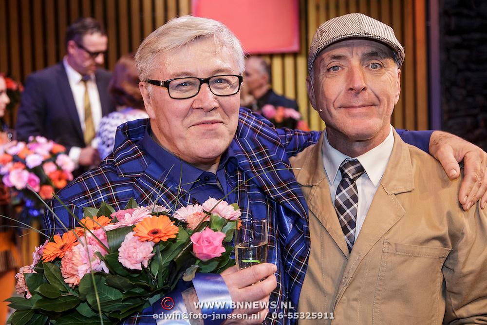 NLD/Amsterdam/20150201 - Premiere Heerlijk duurt het Langst, Barry Stevens en Alfred van den Heuvel