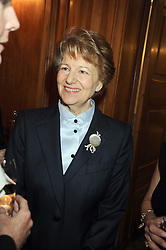BARONESS NICHOLSON OF WINTERBOURNE at a fashion show and lunch in aid of  AMAR International Charitable Foundation held at The Dorchester, Park Lane, London W1 on 9th October 2008.