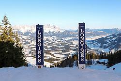 24.01.2020, Streif, Kitzbühel, AUT, FIS Weltcup Ski Alpin, SuperG, Herren, im Bild Blick aus dem Starthaus der Streif // view from the Start of the Streif before the men's SuperG of FIS Ski Alpine World Cup at the Streif in Kitzbühel, Austria on 2020/01/24. EXPA Pictures © 2020, PhotoCredit: EXPA/ Johann Groder