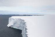 The edge of the Ross Ice Shelf - an area larger than France covering the most southerly coastline in the world