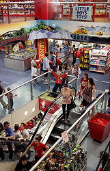 22 April 2011. London, England..Hamley's toy store, perhaps the most famous toy shop in the world. The shop is packed with tourists on London's Regent Street in the heart of London's West End. .Photo; Charlie Varley.