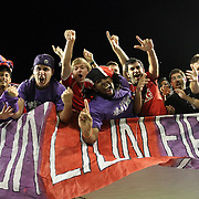 Orlando City Lions fans celebrate the victory after  a United Soccer League Pro soccer match between the Richmond Kickers and the Orlando City Lions at the Florida Citrus Bowl on May 25, 2011 in Orlando, Florida.  (AP Photo/Alex Menendez)