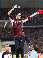 Fotball<br /> Foto: imago/Digitalsport<br /> NORWAY ONLY<br /> <br /> 10.02.2006 <br /> <br /> Afrikameister - Torwart Essam El Hadary (Ägypten) jubelt <br /> Finale ANC Egypt v Elfenbenskysten