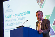 NO FEE PICTURES                                                                                                                                              10/10/19 Robert Nicholson, Dept Housing, Planning and Local Government  at the Irish Council for Social Housing (ICSH) Biennial Finance and Development Conference 2019 at the Clayton Whites Hotel, Wexford 10-11 October. The two-day conference brings together 300 delegates including active housing associations, currently facing the challenge of growing their housing stock and making it more environmentally sustainable. At the event, stakeholders from the public, not-for-profit and private sectors will discuss how collaboration and innovation can develop the sector's capacity to build more sustainable and climate resilient communities.Picture: Arthur Carron