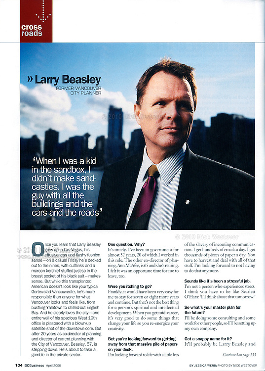 Larry Beasley for BC Business magazine