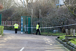 © Licensed to London News Pictures. 18/02/2021. London, UK. Police officers guard a crime scene on Jarrow Road in Tottenham, north London after a fatal stabbing of a man. Police were called to Jarrow Road, N17 at 7:21pm on Wednesday, 17 February after concerns were raised about an injured man who was unresponsive inside a vehicle. Officers attended with paramedics from the London Ambulance Service and the London Air Ambulance and found a man believed to be in his 30s with an injury consistent with having been stabbed. Despite efforts by emergency services he was sadly pronounced dead at the scene a short while later. Photo credit: Dinendra Haria/LNP