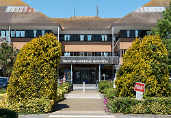© Licensed to London News Pictures. 25/05/2020. Weston-super-Mare, UK. A general view of Weston General Hospital on May 25th 2020. Weston General Hospital has said it is temporarily closed to new admissions including for A&E due to the high number of Covid-19 coronavirus patients it is caring for in the hospital. University Hospitals Bristol and Weston Foundation Trust issued a statement including that this is a precautionary measure in order to maintain the safety of staff and patients in response to the high number of patients with coronavirus in the hospital. Arrangements are in place for new patients to have continued access to treatment & care in other appropriate healthcare settings if needed. Last week there was concern in Weston-super-Mare about the high number of visitors to the beach and seafront during the warm weather. Photo credit: Simon Chapman/LNP.