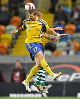 20091105: LISBON, PORTUGAL - Sporting Lisbon vs Ventspils: Europa League 2009/2010 - Group Stage. In picture: Edgars Gaurcs (VENT). PHOTO: Alexandre Pona/CITYFILES