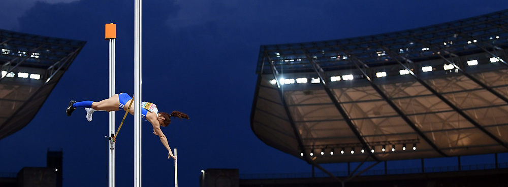 Ekaterini Stefanidi competes and wins gold medal during the European Championships 2018, at Olympic Stadium in Berlin, Germany, Day 3, on August 9, 2018 - Photo Philippe Millereau / KMSP / ProSportsImages / DPPI