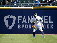 CHICAGO - APRIL 15:  Adam Eaton #42 of the Chicago White Sox fields against the Cleveland Indians as Major League Baseball celebrated Jackie Robinson Day on April 15, 2021 at Guaranteed Rate Field in Chicago, Illinois.  (Photo by Ron Vesely/Getty Images).  (Photo by Ron Vesely) Subject:  Adam Eaton