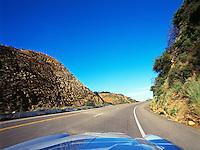Driving on Highway 154 to Santa Ynez, California.